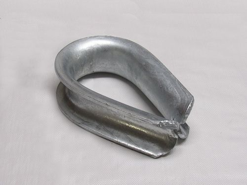 "10"" Circ Galvanised Heart Shaped Towing Thimble - Wire Rope Eyelet"